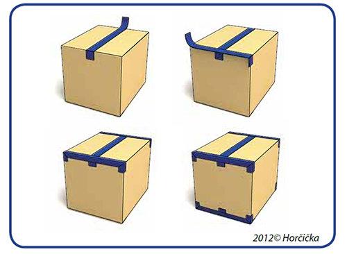 Správne zalepenie krabice lepiacou páskou do tvaru písmena H